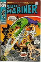 Sub-Mariner #34, VF 8.0, Silver Surfer; Hulk (Pre-Defenders)
