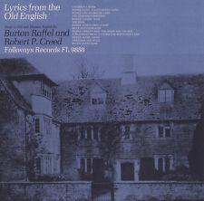 Burton Raffel - Lyrics from the Old English [New CD]