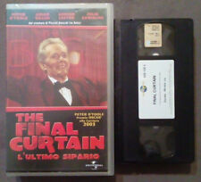 VHS FILM Ita Thriller THE FINAL CURTAIN 2003 universal ex nolo no dvd(VH47)