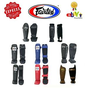 Fairtex Muay Thai Kick Boxing Shin Guard Protector Protection S M L XL
