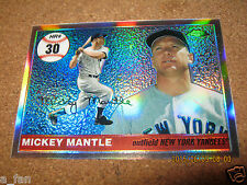 2006 Topps Chrome Home Run History Refractor #MHRC 30 Mickey Mantle Yankees