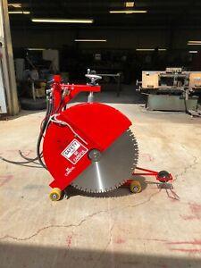 """Hydraulic Concrete Cutting Walk Behind Push Adjustable Saw - 20"""""""