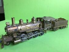 UNITED MODELS BRASS HO SCALE MA & PA BALDWIN 2-8-0 STEAM LOCOMOTIVE & TENDER