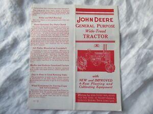 John Deere general purpose tractor brochure