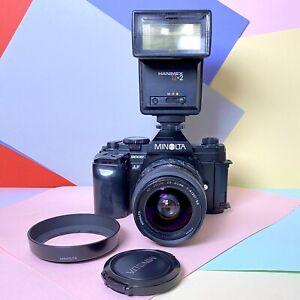 Minolta 9000 AF 35mm SLR Film Camera W/ Flash &  28-80mm F:4 - 5.6 Lens Lomo