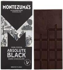 Montezuma'S Absolute Black 100% Cocoa Dark Chocolate, 90 G Bar