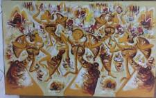 Ethnic Bali Traditional Dance Painting Canvas on Oil