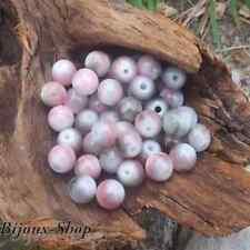 50 Perles oeil de chat 8 mm  nuances vert et rose