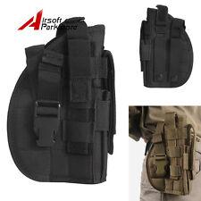 Right Hand Tactical Molle Belt Pistol Holster Gun Bag Flashlight Pouch Black