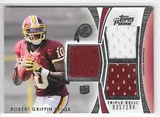 ROBERT GRIFFIN III 2012 TOPPS PRIME TRIPLE RELIC ROOKIE JERSEY RC #D31/194