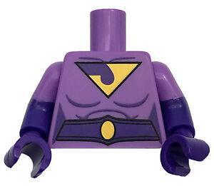 LEGO NEW LAVENDER MINIFIGURE TORSO SUPER HERO WONDER TWINS JAYNA PIECE