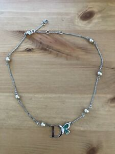 Christian Dior Butterfly Pearl Necklace