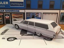 Papercraft EZU-make 1966 Chrysler Town & Country station wagon paper model car