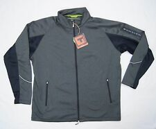 Performance Mid Layer Jacket Mens Size 2XL Charcoal Wicking Stretch UPF 30 NEW