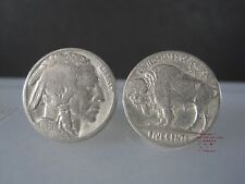CUFFLINKS MEN AMERICA VINTAGE GENUINE COIN BUFFALO INDIAN HEAD NICKEL CUFF LINKS