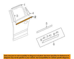 Chevrolet GM OEM Traverse Rear-Window Sweep Belt Felt Molding Left 20940626
