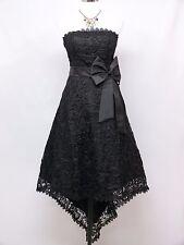 Vestido De Dama De Honor cherlone Negro Fiesta Cóctel Baile de graduación Baile Noche Boda talla 12