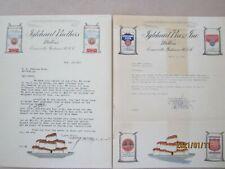 Swans Down Cake Flour Igleheart Bros Evansville IN Letterhead 1920 & 1934