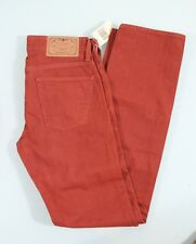 GUESS JEANS NEW MEN'S LINCOLN SLIM STRAIGHT SZ 29 RED DENIM COTTON