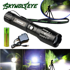 Tactical Police 12000Lumen CREE XM-L T6 LED Flashlight Torch Battery&Charger USA