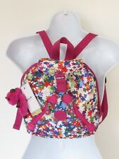 Kipling Fundamental XS Kaleidoscope Block Nylon Backpack w Pink Monkey Key-chain
