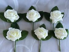 Buttonholes corsage wedding flowers x6 Ivory ,red,pink,purple ,diamanté crystals
