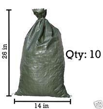 Sandbaggy 10 Green Empty Sandbags For Sale 14x26 Sandbag Sand Bags Bag Poly