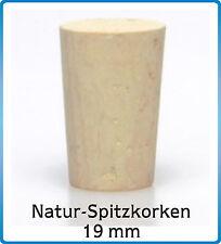 10 St. Natur Korken Spitzkorken 21/17x28, Münd.19 mm, Flasche Verschluss Stopfen