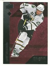 09 10 UD Black Diamond Loui Eriksson Ruby Parallel Card #ed /100 BV $10