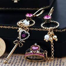 New Betsey Johnson Sexy Stud Dangle Crown Key Royal Top Fashion Jewelry Earrings