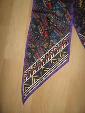 Laura Geraldi Designer Vintage 1990's Long Purple Modern Southwestern Long Scarf