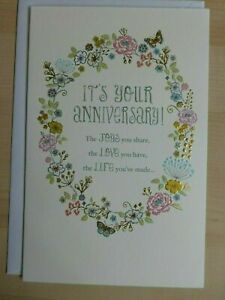 American greeting card -Happy anniversary! -You're a Wonderful Couple