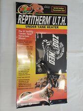 "ReptiTherm Uth Mat Heater 50-60 Gallon Reptile Terrarium 8"" x 18"" Heating Pad Lg"