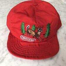 Vintage 90s Oregon State Embroidered Buck Deer Forest Adjustble Snapback Hat
