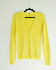 UNITED COLORS OF BENETTON Yellow cotton Cardigan Sweater  M / L 12 14 40 42