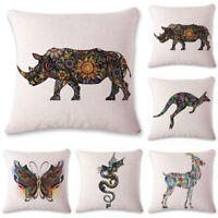 kangaroo Animal Sofa Cushion Cover Throw Pillow Case Linen Cotton Home Decor