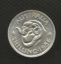 1956 SHILLING - ELIZABETH II -CHOICE BRILLIANT UNCIRCULATED  - FULL MINT BLOOM