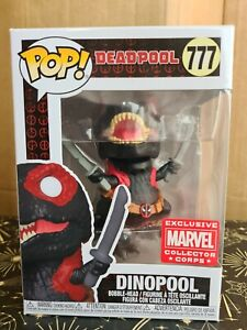 Funko Pop Vinyl - Marvel #777 Dinopool inverse - New - Deadpool -Corps Exclusive
