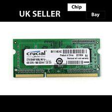 Micron Crucial DDR3 4GB 1Rx8 1600MHz PC3-12800 Laptop RAM Memory Module