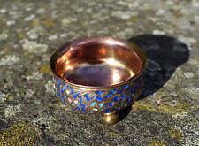 Antique Kashmir gilt wash pot/19th century Indo-Persian/Islamic enamel bowl