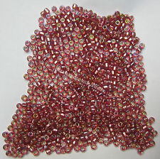 Japanese Matsuno Glass Seed Beads Size 8 SR90 Pink AB Square Hole Rocailles Bead