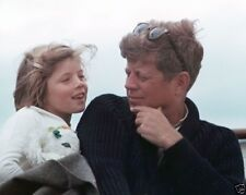President John F. Kennedy and daughter Caroline August 1963 New 8x10 Photo