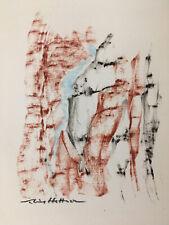 Dessin abstrait fusain Sabine HETTNER (Florence 1907-Paris 1986)