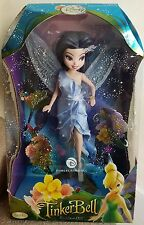 "Disney Collector Fairies Doll 10"" Silvermist Fairy Brass Key Porcelain"
