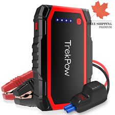 Car Jump Starter TrekPow A18 800A Peak Auto Battery Booster up to 6 0L Gas 5 ...