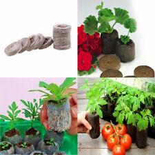 Us Stock 10x Peat Pellets Plant Flower Seed Starter Seedling Condense Soil Block