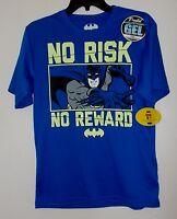 DC Comics Batman Blue And Yellow Short Sleeve Shirt Boys Size 18