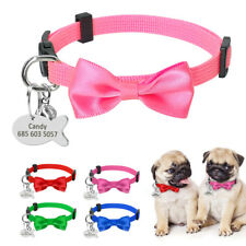 Cute Nylon Breakaway Cat Collars with Tags Free Engraved Personalized Dog Collar