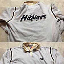 90s Vtg Tommy Hilfiger Polo Rugby Shirt Xl Spell Out Big Logo Sport Hip Hop og