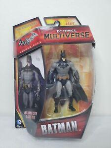 "DC COMICS MULTIVERSE Arkham City Batsuit Batman 3.75"" 4"" Figure Bruce Wayne NEW"